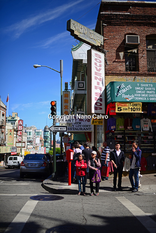 Grant street in Chinatown, San Francisco