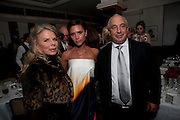LADY GREEN; VICTORIA BECKHAM; SIR PHILIP GREEN, Dinner hosted by editor of British Vogue, Alexandra Shulman in association with Net-A-Porter.com in honour of 25 years of London Fashion Week and Nick Knight. Caprice. London.  September 21, 2009