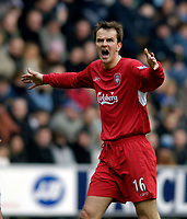 Photo: Jed Wee.<br />Wigan Athletic v Liverpool. The Barclays Premiership. 11/02/2006.<br />Liverpool's Dietmar Hamann.