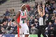 DESCRIZIONE : Torino Coppa Italia Final Eight 2012 Semifinale Scavolini Siviglia Pesaro Bennet Cantu <br /> GIOCATORE : Jumaine Jones<br /> CATEGORIA : esultanza scelta<br /> SQUADRA : Scavolini Siviglia Pesaro<br /> EVENTO : Suisse Gas Basket Coppa Italia Final Eight 2012<br /> GARA : Scavolini Siviglia Pesaro Bennet Cantu<br /> DATA : 18/02/2012<br /> SPORT : Pallacanestro<br /> AUTORE : Agenzia Ciamillo-Castoria/C.De Massis<br /> Galleria : Final Eight Coppa Italia 2012<br /> Fotonotizia : Torino Coppa Italia Final Eight 2012 Semifinale Scavolini Siviglia Pesaro Bennet Cantu<br /> Predefinita :