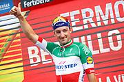Podium Elia Viviani (ITA - QuickStep - Floors) during the 73th Edition Tour of Spain, Vuelta Espana 2018, stage 10 cycling race, Salamanca - Fermoselle Bermillo de Sayago 177 km on September 4, 2018 in Spain - Photo Luca Bettini / BettiniPhoto / ProSportsImages / DPPI