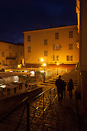 Corsica. France. Calvi the  port at night , Corsica North, France