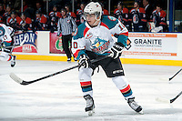 KELOWNA, CANADA -FEBRUARY 1: Nick Merkley #10 of the Kelowna Rockets skates against the Kamloops Blazers on February 1, 2014 at Prospera Place in Kelowna, British Columbia, Canada.   (Photo by Marissa Baecker/Getty Images)  *** Local Caption *** Nick Merkley;