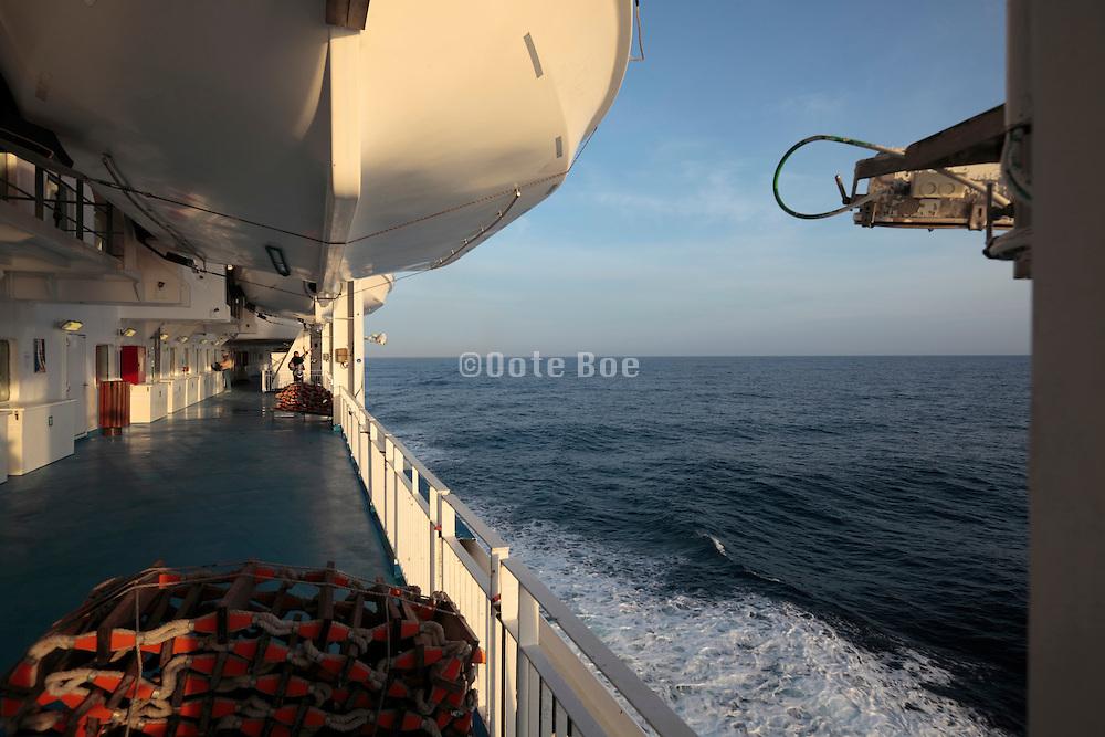 lifeboat deck on passenger ship