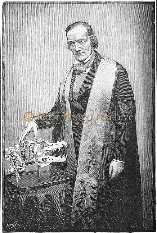 Richard Owen (1804-1892) British naturalist, at the age of 52. Coined term 'Dinosaur' (1841). Opposed Darwin and evolution. From 'The Strand Magazine', London, 1891. Engraving