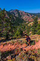 Eldorado Canyon Trail, Eldorado Canyon State Park, Eldorado Springs, near Boulder, Colorado USA. Eldorado Canyon is a world famous trad rock climbing area.