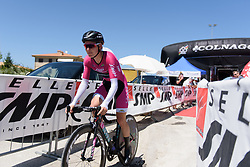 Hannah Barnes begins Stage 5 of the Giro Rosa - a 12.7 km individual time trial, starting and finishing in Sant'Elpido A Mare on July 4, 2017, in Fermo, Italy. (Photo by Sean Robinson/Velofocus.com)