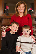 patty matheny with her sons jarin and jamen.