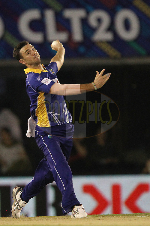 James Franklin of the Barbados Tridents  during match 5 of the Oppo Champions League Twenty20 between the Kings XI Punjab and the Barbados Tridents held at the Punjab Cricket Association Stadium, Mohali, India on the 20th September 2014<br /> <br /> Photo by:  Ron Gaunt / Sportzpics/ CLT20<br /> <br /> <br /> Image use is subject to the terms and conditions as laid out by the BCCI/ CLT20.  The terms and conditions can be downloaded here:<br /> <br /> http://sportzpics.photoshelter.com/gallery/CLT20-Image-Terms-and-Conditions-2014/G0000IfNJn535VPU/C0000QhhKadWcjYs
