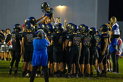 27 September 2019: LeRoy Panthers at Tri Valley Vikings boys HOIC (Heart of Illinois Conference) football, Heyworth Illinois
