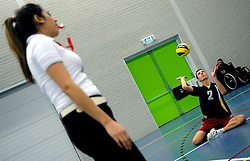 08-01-2011 VOLLEYBAL: ED ROOSEN ZITVOLLEYBALTOERNOOI 2011: LEERSUM<br /> Voller volleyball club organizes for the ninth consecutive time the Ed Roosen sitting volleyball tournament / Referee from England - Volleer 1 vs. Leverkusen Germany 2<br /> ©2011-WWW.FOTOHOOGENDOORN.NL