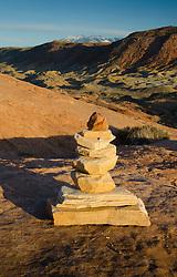 Cairn, Arches National Park, Utah, US