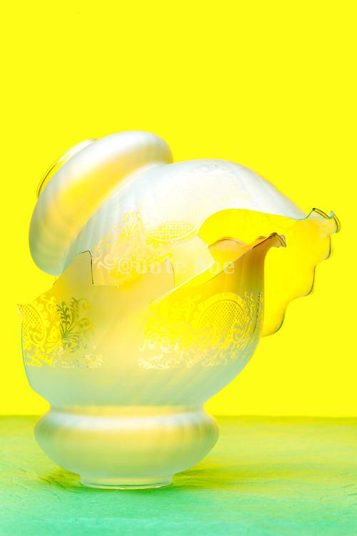 broken vintage glass lamp shades