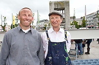 10/07/2012. Gerry Shaughnessy and Tommy Flynn from Shanaglish Galway who are related to the men in the original photo . Picture:Andrew Downes