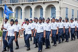 The Civil Air Patrol march to Franklin D. Rooselvelt Park.  St. Thomas Memorial Day Ceremony and Parade.  Franklin D. Roosevelt Veterans Park.  St. Thomas, USVI.  30 May 2016.  © Aisha-Zakiya Boyd