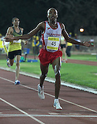 STELLENBOSCH, SOUTH AFRICA, Tuesday 20 March 2012, Gladwin Mzazi wins the mens 5000m during the Yellow Pages Series athletics meeting at the University of Stellenbosch Coetzenburg stadium..Photo by Roger Sedres/Image SA