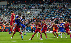 19.05.2012, Allianz Arena, Muenchen, GER, UEFA CL, Finale, FC Bayern Muenchen (GER) vs FC Chelsea (ENG), im Bild Chelsea's Didier Drogba scores the equalising 1-1 goal to secure extra-time against FC Bayern Munchen during the Final Match of the UEFA Championsleague between FC Bayern Munich (GER) vs Chelsea FC (ENG) at the Allianz Arena, Munich, Germany on 2012/05/19. EXPA Pictures © 2012, PhotoCredit: EXPA/ Propagandaphoto/ Vegard Grott..***** ATTENTION - OUT OF ENG, GBR, UK *****
