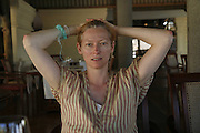 Tilda Swinton, Preparing for the Le Prince Maurice Prize. Mauritius. 26 May 2006. ONE TIME USE ONLY - DO NOT ARCHIVE  © Copyright Photograph by Dafydd Jones 66 Stockwell Park Rd. London SW9 0DA Tel 020 7733 0108 www.dafjones.com