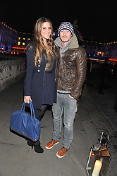 AMANDA BYRAM and LUKE EVANS at the opening of the 2012 Somerset House Ice Rink on 15th November 2012.
