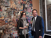 LUCY FERRY; DAVID MACMILLAN, Early launch of Rupert's. Robin Birley  new premises in Shepherd Market. 6 Hertford St. London. 10 June 2010. .-DO NOT ARCHIVE-© Copyright Photograph by Dafydd Jones. 248 Clapham Rd. London SW9 0PZ. Tel 0207 820 0771. www.dafjones.com.