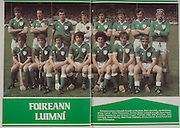 All Ireland Senior Hurling Championship - Final,.07.09.1980, 09.07.1980, 7th Sepember 1980,.Galway 2-15, Limerick 3-9,.07091980ALSHCF,..Limerick, Back row, Joe McKenna, Mossy Carroll, Willie Fitzmaurice, Tommy Quiad, Leonard Enright, Dom Punch, Paudie Fitzmaurice, Eamonn Cregan, front row, Ollie O'Connor, John Flanagan, Donal Murray, Sean Foley captain, Jimmy Carroll, David Punch, Liam O'Donoghue,