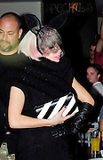 14.JULY.2009 - LONDON<br /> <br /> US POP STAR LADY GAGA ARRIVING AT BALLANS RESTAURANT, SOHO AT AT 12.30AM WEARING A BIG BALCK WOOL JACKET ON AFTER PERFORMING AT BRIXTON ACADEMY EARLIER IN THE EVENING, INSTEAD OF EATING LADY GAGA WAS MORE INTRESTED IN SNOGGING THE FACE OF A MYSTERY GUY IN THE RESTAURANT BEFORE THEY GOT INTURUPTED BY FORMER DESTINY'S CHILD SINGER MICHELLE WILLIAMS WHO WAS ALSO EATING AT THE RESTAURANT, GAGA THEN LEFT AT 1.30AM BEFORE RETURNING BACK TO HER HOTEL WITH THE MYSTERY GUY IN THE CAR.<br /> <br /> BYLINE: EDBIMAGEARCHIVE.COM<br /> <br /> *THIS IMAGE IS STRICTLY FOR UK NEWSPAPERS &amp; MAGAZINES ONLY*<br /> *FOR WORLDWIDE SALES &amp; WEB USE PLEASE CONTACT EDBIMAGEARCHIVE - 0208 954 5968*