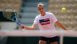 May 22, 2019 - Paris, France - Karolina Pliskova of the Czech Republic during practice at the 2019 Roland Garros Grand Slam tennis tournament (Credit Image: © AFP7 via ZUMA Wire)