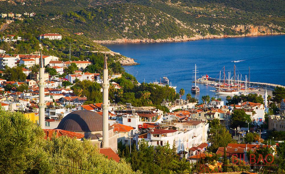 City view. Kas. Antalya province, mediterranean coast. Turkey.
