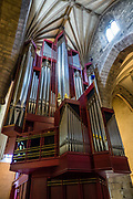 "The impressive Rieger Organ stands in the South Transept of St Giles' Cathedral (High Kirk of Edinburgh), the principal place of worship of the Church of Scotland in Edinburgh. The organ was built in 1992 by the Austrian firm of Rieger Orgelbau, in consultation with Herrick Bunney and Peter Hurford. The instrument has a distinctive case of Austrian oak designed by Douglas Laird. St Giles' church has been one of Edinburgh's religious focal points for approximately 900 years. The present church dates from the late 1300s, though it was extensively restored in the 1800s. Today it is sometimes regarded as the ""Mother Church of Presbyterianism."" The cathedral is dedicated to Saint Giles, who is the patron saint of Edinburgh, as well as of cripples and lepers, and was a very popular saint in the Middle Ages. Edinburgh is the capital city of Scotland, in Lothian on the Firth of Forth, Scotland, United Kingdom, Europe."
