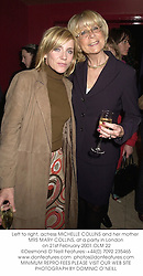Left to right, actress MICHELLE COLLINS and her mother MRS MARY COLLINS, at a party in London on 21st February 2001.OLM 22
