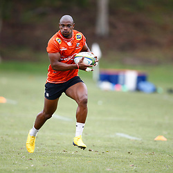 Makazole Mapimpi of the Cell C Sharks during the Cell C Sharks training session from theBox Hill Rugby Union Football Club  RHL Sparks Reserve, Canterbury Rd & Middleborough Road, Box Hill VIC 3128. Melbourne,Australia 20 February 2020. (Photo Steve Haag Sports -Hollywoodbets)