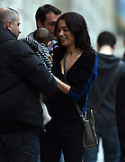 10.OCTOBER.2012. LONDON<br /> <br /> *PLEASE HIDE THE CHILD'S FACE PRIOR TO THE PUBLICATION.* ACTOR BRUCE WILLIS, HIS WIFE EMMA HEMING-WILLIS AND THEIR <br /> 5-MONTH OLD BABY GIRL MABEL RAY ARRIVE AT THEIR HOTEL IN PARIS<br /> <br /> BYLINE: EDBIMAGEARCHIVE.CO.UK<br /> <br /> *THIS IMAGE IS STRICTLY FOR UK NEWSPAPERS AND MAGAZINES ONLY*<br /> *FOR WORLD WIDE SALES AND WEB USE PLEASE CONTACT EDBIMAGEARCHIVE - 0208 954 5968*