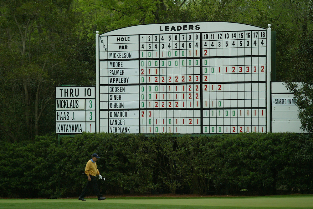 Jack Nicklaus..2005 Masters Tournament.First Round.Augusta National GC.Augusta GA.Thursday, April 7 2005..photograph by Darren Carroll..04-07-05...