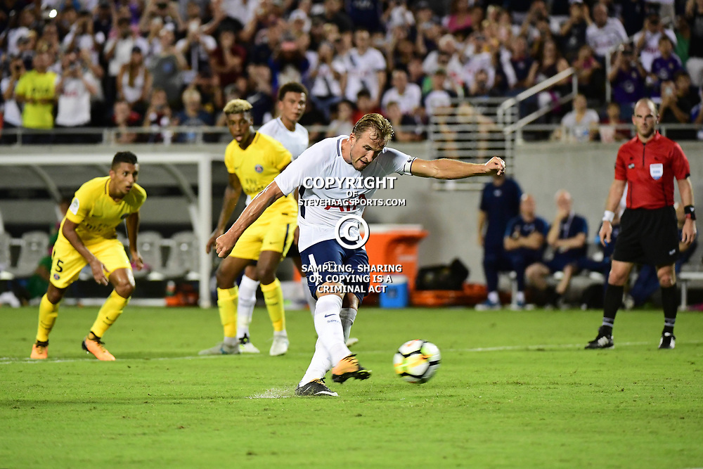 Harry Kane of Spurs makes the finale score 4-2 from the penalty spot during the International Champions Cup match between Paris Saint Germain and Tottenham Hotspur on July 22, 2017 in Orlando, United States. (Photo by Dave Winter/Icon Sport)