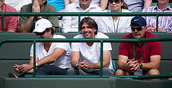 LONDON, ENGLAND - Wednesday, June 29, 2011: Bernard Tomic's mentor Goran Ivanisevic watches during the Gentlemen's Singles Quarter-Final match on day nine of the Wimbledon Lawn Tennis Championships at the All England Lawn Tennis and Croquet Club. (Pic by David Rawcliffe/Propaganda)