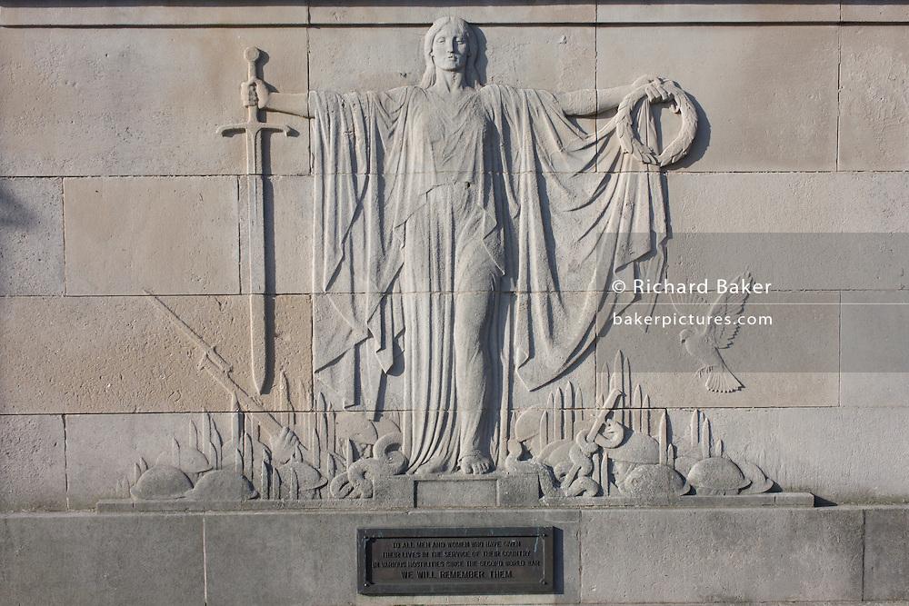 Detail of Harrogate war memorial.