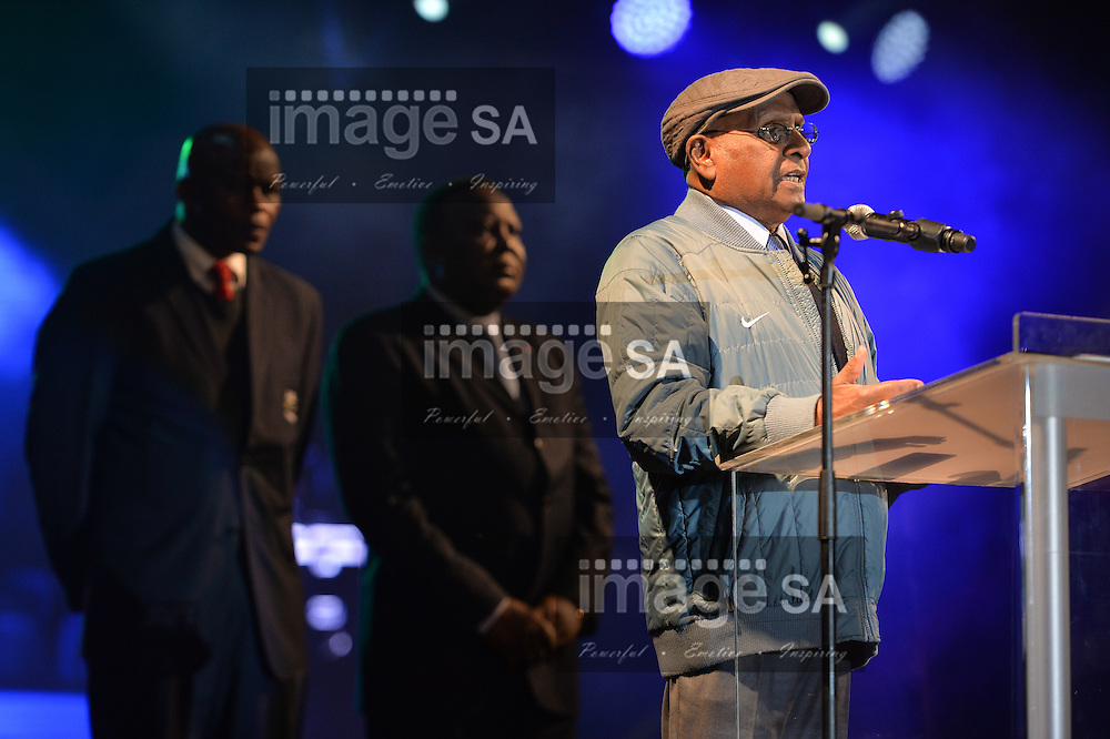 DURBAN, SOUTH AFRICA - JUNE 21: Dr Sam Ramsamy, officially opens the championships during the CAA 20th African Senior Championships Opening Ceremony at Growth Point Kings Park stadium on June 21, 2016 in Durban, South Africa. (Photo by Roger Sedres/Gallo Images)