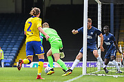 Southend United Goalkeeper Mark Oxley (1) scrambles to make a save during the Pre-Season Friendly match between Southend United and Leeds United at Roots Hall, Southend, England on 22 July 2018. Picture by Stephen Wright.