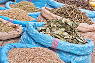 Herbs and spices at the market in Zagora, Morocco.