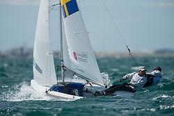 2012 Olympic Games London / Weymouth<br /> 470 men race course<br /> Dahlberg Anton, Oestling Sebastian, (SWE, 470 Men)
