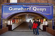 Tunnel into Gunwharf Quays development, Portsmouth, Hampshire, England