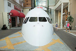 Airbus A380-800 flight simulator inside Dubai Mall in Dubai United Arab Emirates