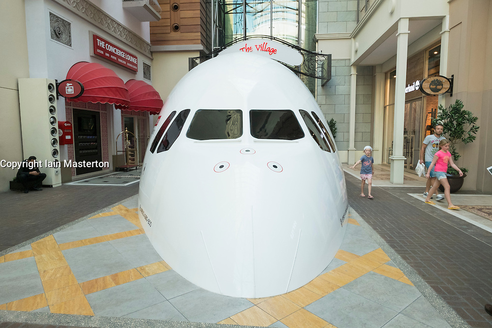 Airbus A380-800 flight simulator inside Dubai Mall in Dubai United Arab Emirates