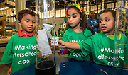 Students from Benbrook Elementary School enjoy the Lights On Afterschool celebration at the Children's Museum, October 26, 2017.