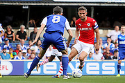 Barnsley midfielder Conor Hourihane with an early attack during the EFL Sky Bet Championship match between Ipswich Town and Barnsley at Portman Road, Ipswich, England on 6 August 2016. Photo by Nigel Cole.