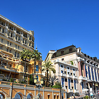 Buildings along Avenue D&rsquo;Ostende in Monte Carlo, Monaco <br />