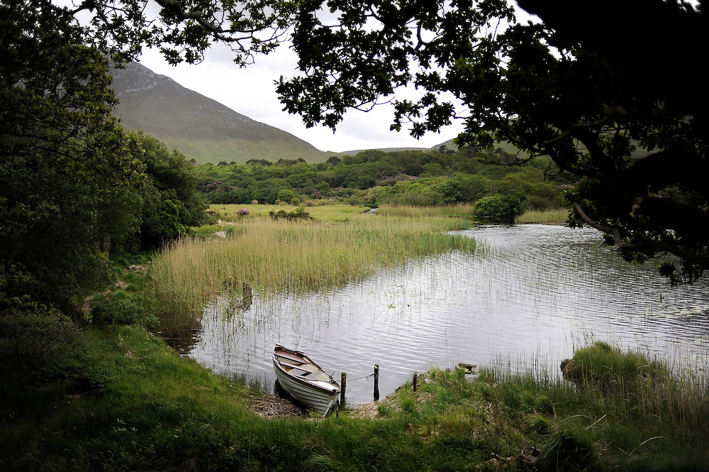 The grounds at Kylemore Abbey in Connemara, Co. Galway, Ireland.