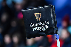 Guinness pro14 branded corner flag - Mandatory by-line: Craig Thomas/Replay images - 31/12/2017 - RUGBY - Cardiff Arms Park - Cardiff , Wales - Blues v Scarlets - Guinness Pro 14