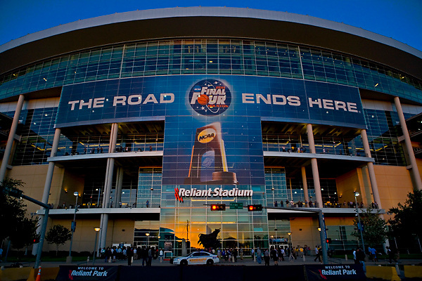 Stock photo of the NCAA Final Four Tournament taking place at Reliant Stadium in Houston Texas