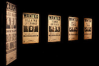 "Wanted posters at the ""Harry Potter"" exhibition at Discovery Times in New York. ..Photo by Robert Caplin."
